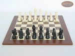 picture of Contemporary Staunton Chessmen with Spanish Wood Chess Board (4 of 6)