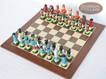 picture of Hungarian Szur Chessmen with Spanish Wood Chess Board (2 of 7)
