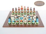 picture of Hungarian Szur Chessmen with Spanish Wood Chess Board (4 of 7)