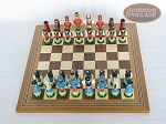 picture of Hungarian Szur Chessmen with Spanish Mosaic Chess Board (3 of 7)