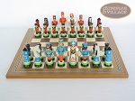 picture of Hungarian Szur Chessmen with Spanish Mosaic Chess Board (4 of 7)