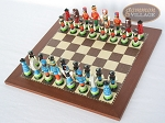 picture of Hungarian Szur Chessmen with Spanish Traditional Chess Board [Small] (2 of 7)