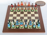 picture of Hungarian Szur Chessmen with Spanish Traditional Chess Board [Small] (3 of 7)