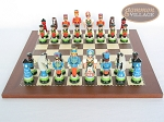 picture of Hungarian Szur Chessmen with Spanish Traditional Chess Board [Small] (4 of 7)