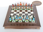 picture of Hungarian Szur Chessmen with Italian Alabaster Chess Board with Storage (3 of 8)