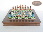 picture of Hungarian Szur Chessmen with Italian Alabaster Chess Board with Storage (4 of 8)