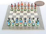 picture of Hungarian Szur Chessmen with Spanish Lacquered Chess Board [Grey] (3 of 7)