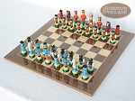 picture of Hungarian Szur Chessmen with Spanish Lacquered Chess Board [Wood] (2 of 7)