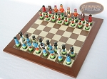 picture of Hungarian Szur Chessmen with Spanish Traditional Chess Board [Large] (2 of 7)