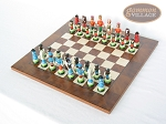 picture of Hungarian Szur Chessmen with Italian Lacquered Chess Board [Wood] (2 of 7)