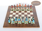 picture of Hungarian Szur Chessmen with Italian Lacquered Chess Board [Wood] (3 of 7)