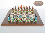 picture of Hungarian Szur Chessmen with Italian Lacquered Chess Board [Wood] (4 of 7)