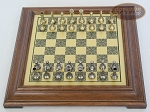 picture of Italian Brass/Silver Staunton Chessmen with Italian Brass Chess Board [Raised] (3 of 6)