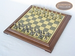 picture of Teutonic Brass/Silver Chessmen with Italian Brass Chess Board [Raised] (2 of 6)
