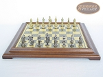 picture of Teutonic Brass/Silver Chessmen with Italian Brass Chess Board [Raised] (4 of 6)