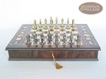 picture of Teutonic Brass/Silver Chessmen with Italian Chess Board with Storage [Large] (4 of 7)