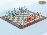 The Napoleon Chessmen with Spanish Wood Chess Board - Item: 791