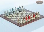 The Napoleon Chessmen with Spanish Wood Chess Board - Item: 792
