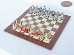 picture of The Napoleon Chessmen with Spanish Wood Chess Board (2 of 7)