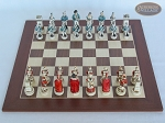 picture of The Napoleon Chessmen with Spanish Wood Chess Board (3 of 7)