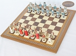 picture of The Napoleon Chessmen with Spanish Mosaic Chess Board (2 of 7)