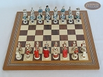 picture of The Napoleon Chessmen with Spanish Mosaic Chess Board (3 of 7)