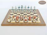 picture of The Napoleon Chessmen with Spanish Mosaic Chess Board (4 of 7)