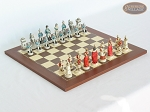 The Napoleon Chessmen with Spanish Traditional Chess Board [Small] - Item: 796