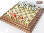 picture of The Napoleon Chessmen with Italian Brass Chess Board with Storage (2 of 8)