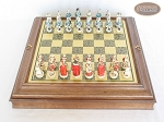 picture of The Napoleon Chessmen with Italian Brass Chess Board with Storage (3 of 8)