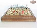 picture of The Napoleon Chessmen with Italian Brass Chess Board with Storage (4 of 8)