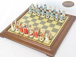 picture of The Napoleon Chessmen with Italian Brass Chess Board [Raised] (2 of 7)