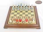 picture of The Napoleon Chessmen with Italian Brass Chess Board [Raised] (3 of 7)