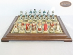picture of The Napoleon Chessmen with Italian Brass Chess Board [Raised] (4 of 7)