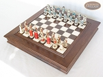 picture of The Napoleon Chessmen with Italian Alabaster Chess Board with Storage (2 of 8)