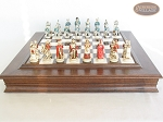 picture of The Napoleon Chessmen with Italian Alabaster Chess Board with Storage (4 of 8)
