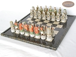 picture of Luxury Oriental Chessmen with Italian Lacquered Board [Black] (2 of 7)