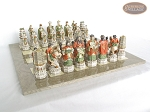 picture of Luxury Oriental Chessmen with Large Spanish Lacquered Chess Board [Grey] (5 of 8)