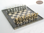 The Grand Chessmen with Italian Lacquered Board [Black] - Item: 817