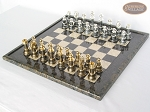 picture of The Grand Chessmen with Italian Lacquered Board [Black] (2 of 8)