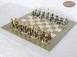 picture of The Grand Chessmen with Large Spanish Lacquered Chess Board [Grey] (2 of 8)