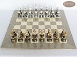 picture of The Grand Chessmen with Large Spanish Lacquered Chess Board [Grey] (3 of 8)