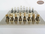 picture of The Grand Chessmen with Large Spanish Lacquered Chess Board [Grey] (4 of 8)