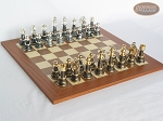 The Grand Chessmen with Spanish Traditional Chess Board [Extra Large]