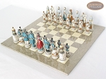 picture of Confederate vs. Union Chessmen with Large Spanish Lacquered Chess Board [Grey] (2 of 8)