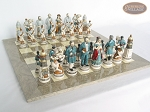 picture of Confederate vs. Union Chessmen with Large Spanish Lacquered Chess Board [Grey] (5 of 8)