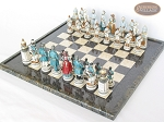picture of Confederate vs. Union Chessmen with Italian Lacquered Board [Black] (2 of 8)