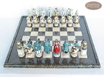 picture of Confederate vs. Union Chessmen with Italian Lacquered Board [Black] (3 of 8)