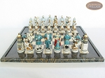 picture of Confederate vs. Union Chessmen with Italian Lacquered Board [Black] (4 of 8)
