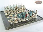 picture of Confederate vs. Union Chessmen with Italian Lacquered Board [Black] (5 of 8)